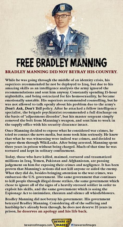 Free Bradley Manning Did Not Betray