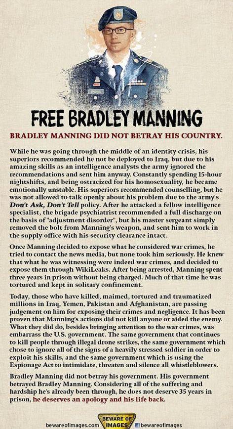 Free Bradley Manning Did Not Betray