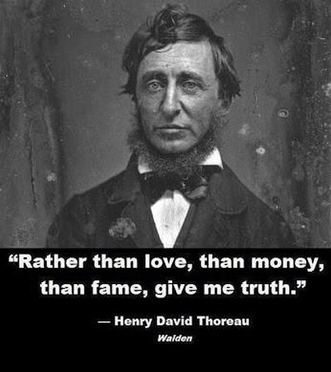 Henry David Thoreau Rather Than Love