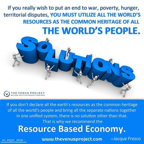 Jacque Fresco If You Really Wish To Put An End To War, Poverty, Hunger, Territorial Disputes