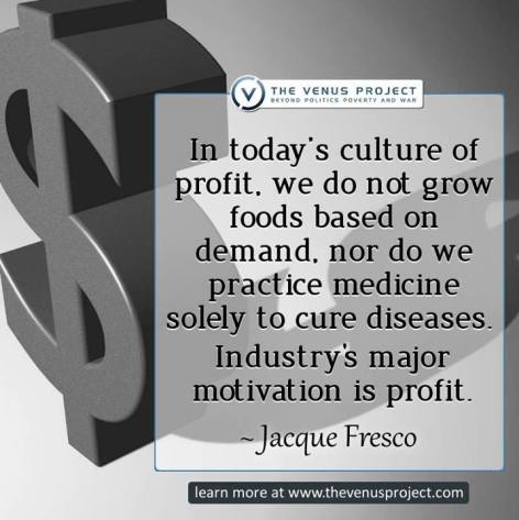 Jacque Fresco In Today's Culture Of Profit We Don't Grow Foods Based On Demand