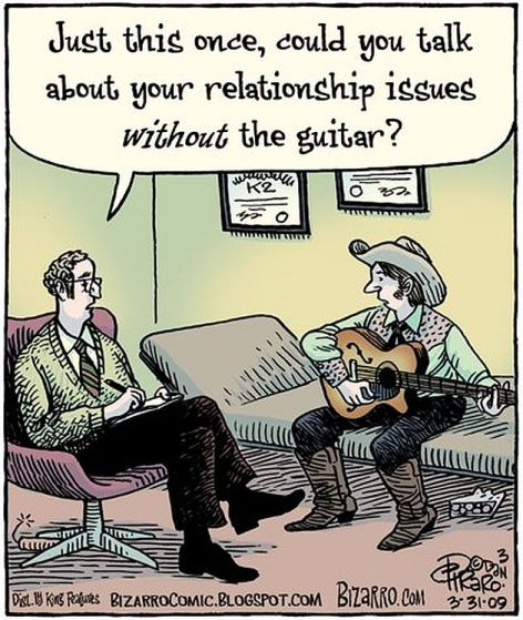 Just This Once Could You Talk About Your Relationship Issues Without The Guitar