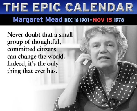 Margaret Mead Never Doubt That A Small