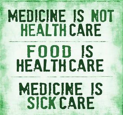 Medicine Is Not Healthcare Food Is Healthcare Medicine Is Sick Care