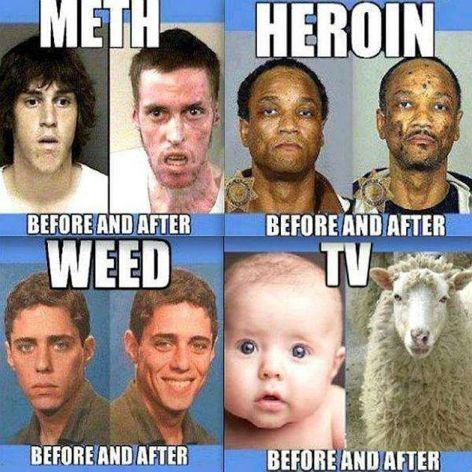 Meth, Heroin, Weed, TV, Before And After