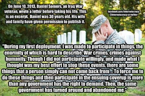 On June 10, 2013, Daniel Somers, An Iraq War Veteran