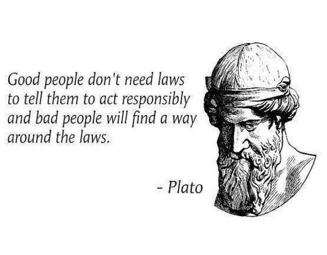 Plato Good People Don't Need Laws
