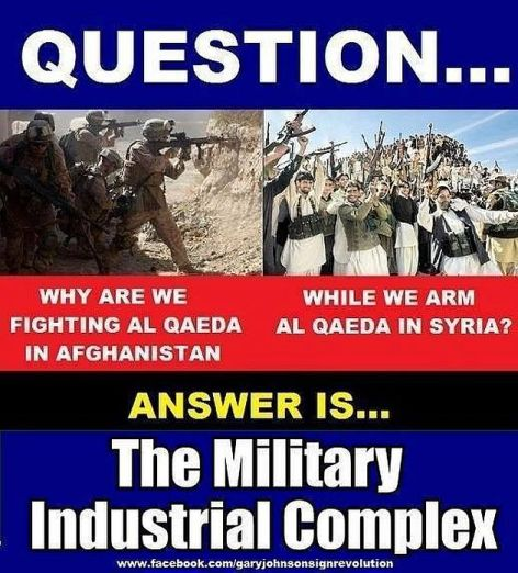 Question Why Are We Fighting Al Qaeda In Afghanistan While We Are Al Qaeda In Syria Answer Is The Military Industrial Complex