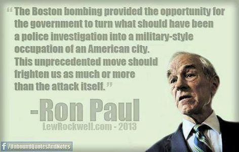 Ron Paul The Boston Bombing Provided
