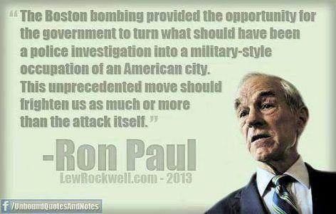 Ron Paul The Boston Bombing Provided