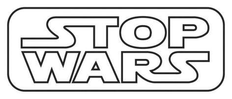 Stop Wars Black On White