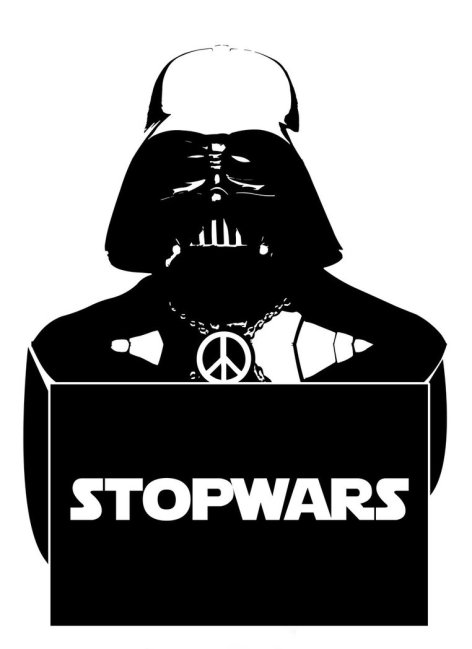 Stop Wars Darth Vader Peace