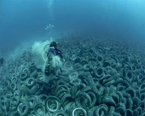Tires On The Bottom Of The Ocean