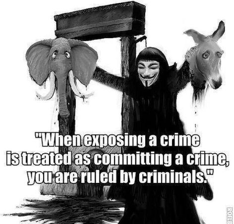 When Exposing A Crime Is Treated As Committing A Crime You Are Ruled By Criminals