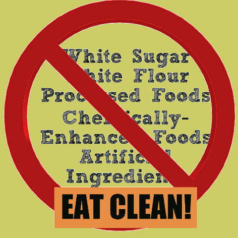 White Sugar White Flour Processed Foods Chemically Enhanced Foods Artificial Ingredients Eat Clean