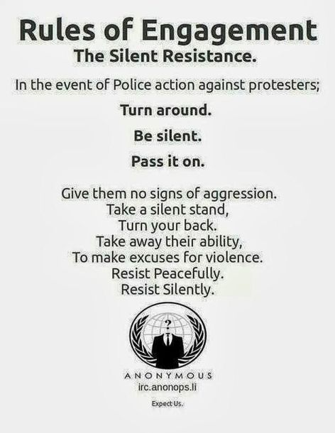 Anonymous Rules Of Engagement The Silent Resistance