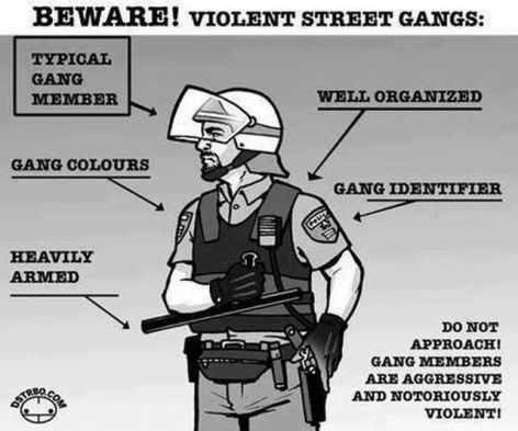 Beware Violent Street Gangs