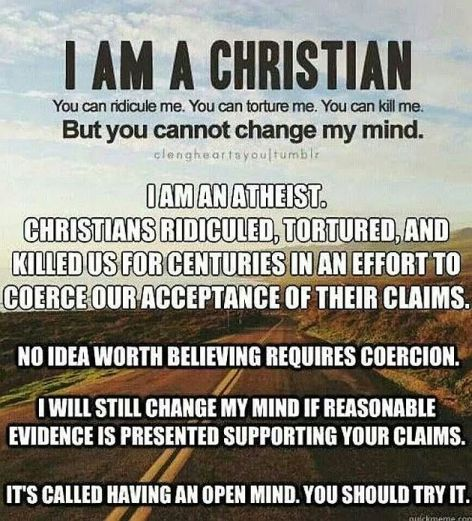 I Am A Christian Vs I Am An Atheist