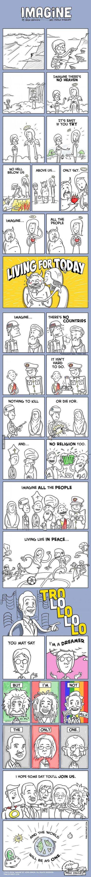 Imagine Cartoon Strip By Pablo Stanley