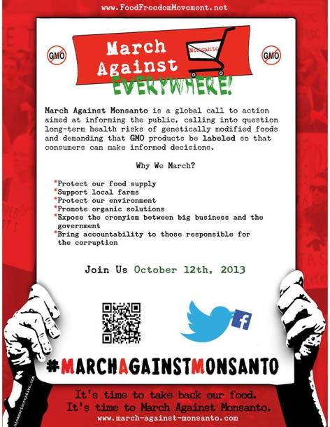 March Against Monsanto Everywhere October 12th, 2013