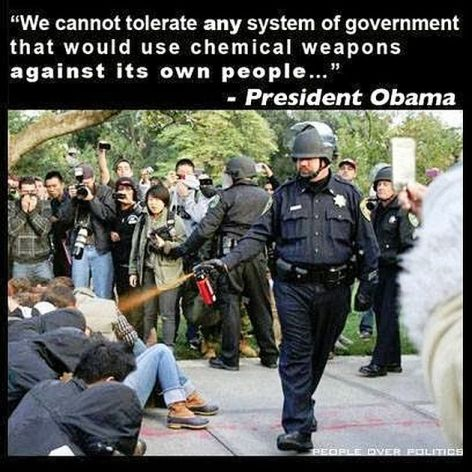 President Obama We Cannot Tolerate Any System Of Government That Would Use Chemical Weapons Against Its Own People
