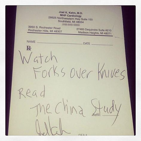The Prescription Pad Of Michigan Based Cardiologist Dr. Joel Kahn