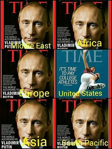 Vladimir Putin On The Cover Of Time Everywhere But USA