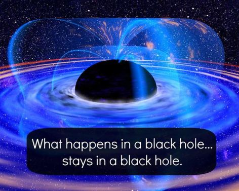 What Happens In A Black Hole Stays In A Black Hole