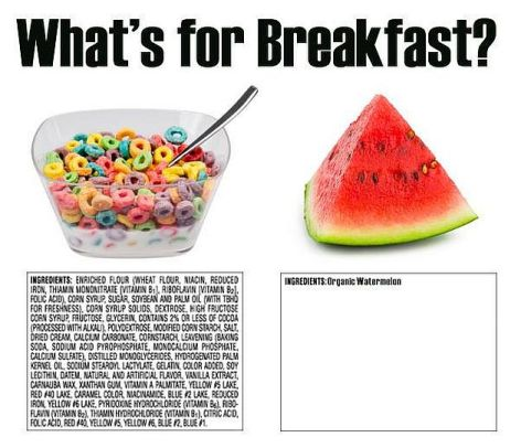What's For Breakfast Sugary Cereal Vs Organic Watermelon