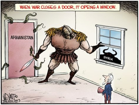 When War Closes A Door It Opens A Window Afghanistan Syria