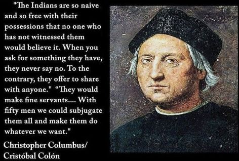 Christopher Columbus The Indians Are So Naive