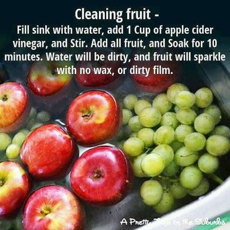 Cleaning Fruit Fill Sink With Water