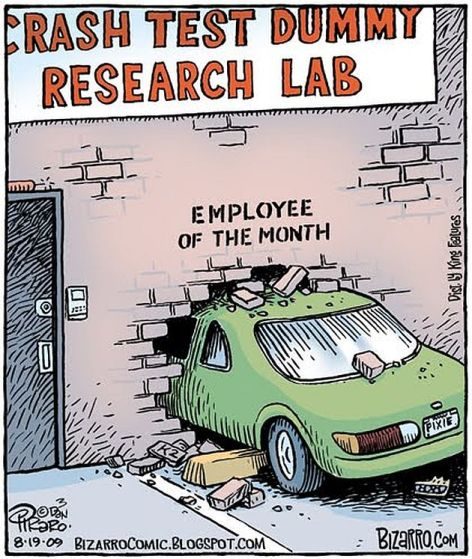 Crash Test Dummy Research Lab Employee Of The Month