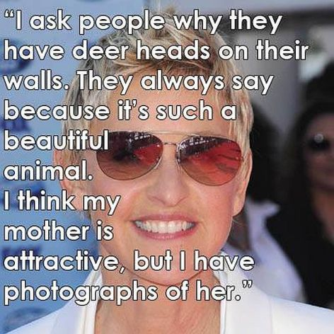 Ellen DeGeneres I Ask People Why They Have Deer Heads On Their Walls