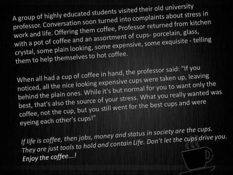Enjoy The Coffee A Group Of Highly Educated Students Visited Their Old University Professor