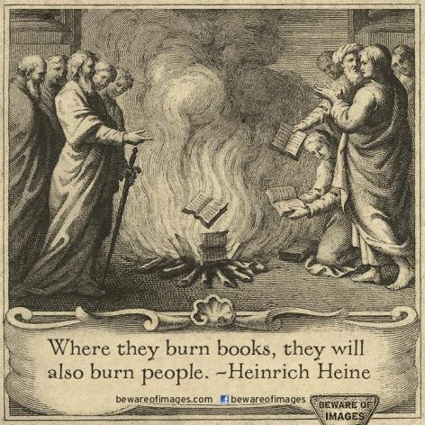 Heinrich Heine Where They Burn Books They Will Also Burn People
