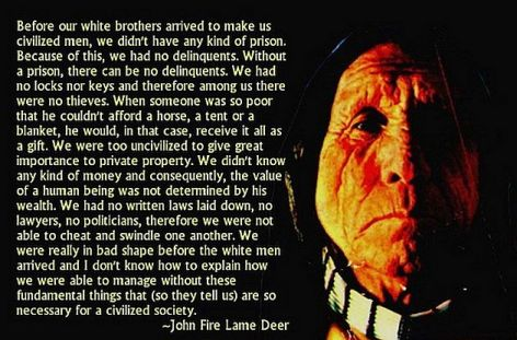 John Fire Lame Deer Before Our White Brothers Arrived