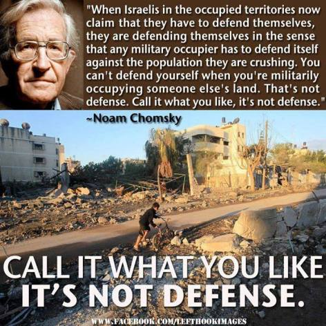 Noam Chomsky When Israelis In The Occupied Territories