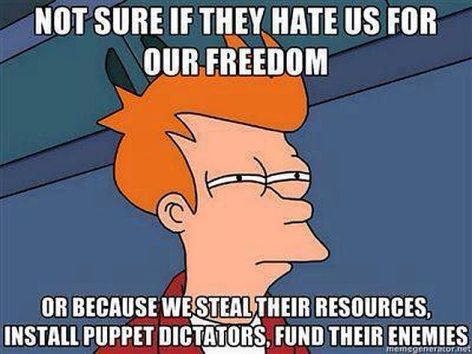 Not Sure If They Hate Us For Our Freedom