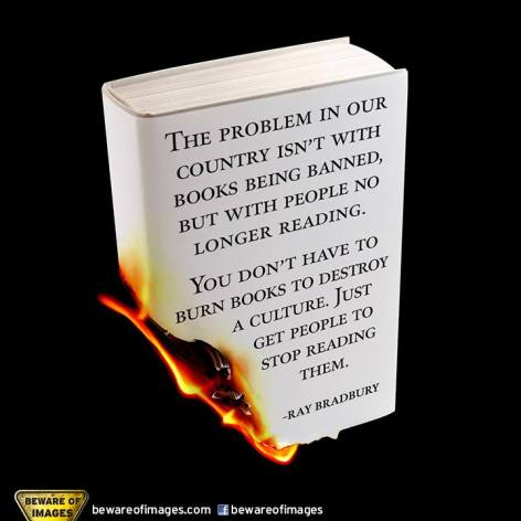 Ray Bradbury The Problem In Our County Isn't With Books Being Banned But With People No Longer Reading