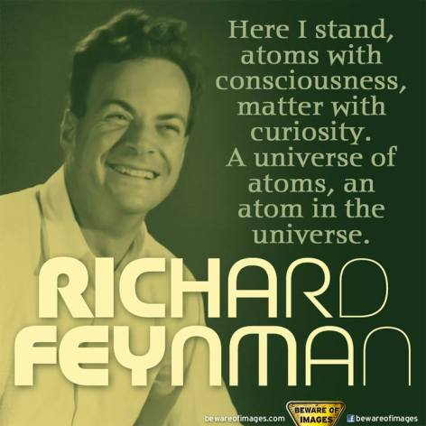 Richard Feynman Here I Stand Atoms