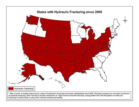States With Hydraulic Fracturing Since 2005