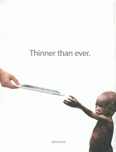 Thinner Than Ever Apple Tablet Starving African Child