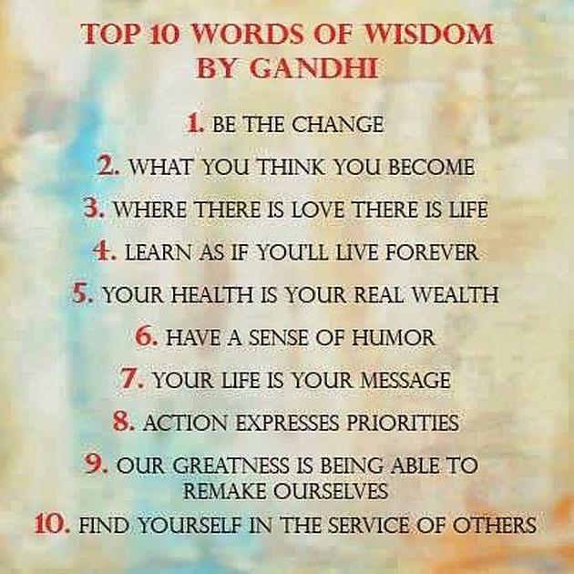 Pears Ghandi: Top 10 Words Of Wisdom By Gandhi