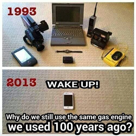 1993 2013 Wake Up Why Do We Still Use The Same Gas Engine We Used 100 Years Ago