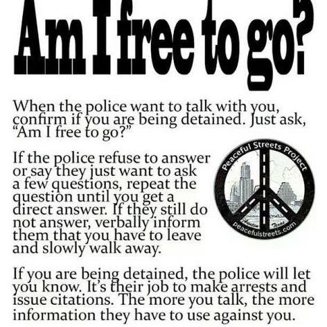 Am I Free To Go