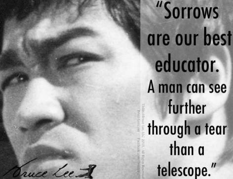 Bruce Lee Sorrows Are Our Best Educator
