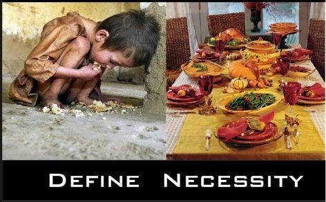 Define Necessity Thanksgiving