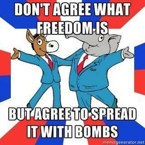 Don't Agree What Freedom Is But Agree To Spread It With Bombs