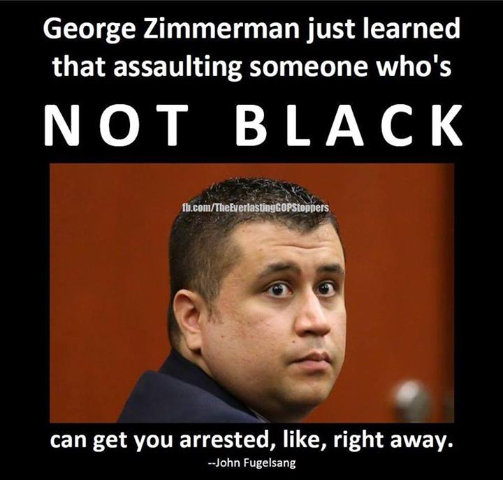 George Zimmerman just learned that
